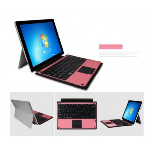 Etui De Protection Cuir Rose Clavier Bluetooth AZERTY Pour Microsoft Surface Pro 3