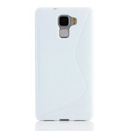 Coque protection silicone blanc huawei honor 6x for Housse honor 6x