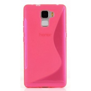 Coque De Protection En Silicone Rose Pour Huawei Honor 6X