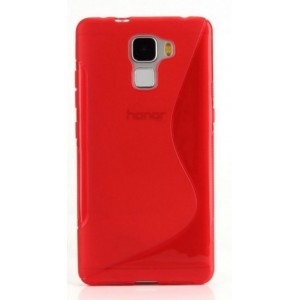 Coque De Protection En Silicone Rouge Pour Huawei Honor 6X
