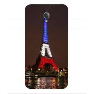 Coque De Protection Tour Eiffel Couleurs France Pour Alcatel Fierce 4
