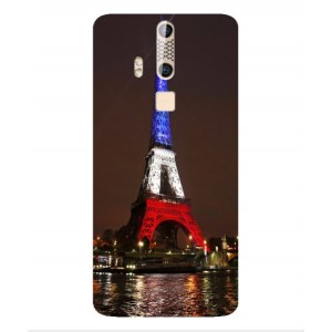 Coque De Protection Tour Eiffel Couleurs France Pour ZTE Axon Elite