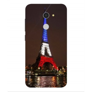 Coque De Protection Tour Eiffel Couleurs France Pour Alcatel A3