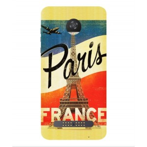 Coque De Protection Paris Vintage Pour Motorola Moto Z2 Play