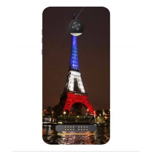 Coque De Protection Tour Eiffel Couleurs France Pour Motorola Moto Z2 Play