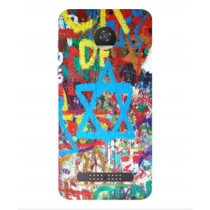 Coque De Protection Graffiti Tel-Aviv Pour Motorola Moto Z2 Play