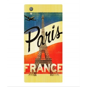 Coque De Protection Paris Vintage Pour Sony Xperia L1