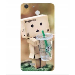Coque De Protection Amazon Starbucks Pour Archos 55b Cobalt