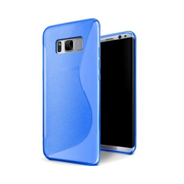 coque protection silicone bleu samsung galaxy s8. Black Bedroom Furniture Sets. Home Design Ideas