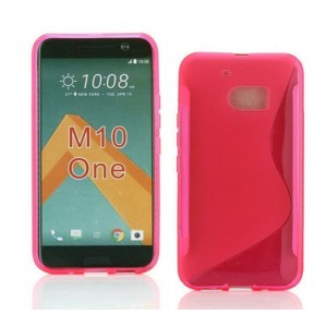 Coque De Protection En Silicone Rose Pour HTC One M10