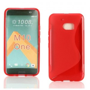 Coque De Protection En Silicone Rouge Pour HTC One M10