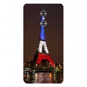 Coque De Protection Tour Eiffel Couleurs France Pour ZTE Grand X Max 2