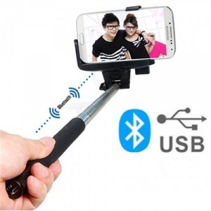 Tige à Selfie Bluetooth Noir Pour param_selected_subcategory