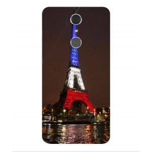 Coque De Protection Tour Eiffel Couleurs France Pour ZTE Grand X 4