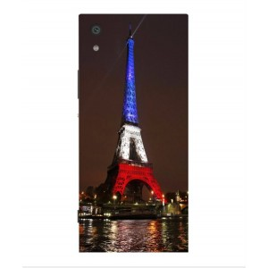 Coque De Protection Tour Eiffel Couleurs France Pour Sony Xperia XA1 Ultra