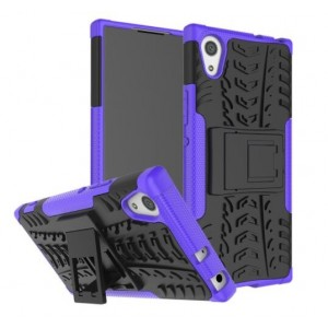 Protection Antichoc Type Otterbox Violet Pour Sony Xperia XA1