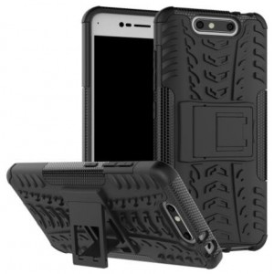 Protection Solide Type Otterbox Noir Pour ZTE Blade V8