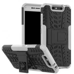 Protection Antichoc Type Otterbox Blanc Pour ZTE Blade V8