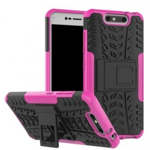 Protection Antichoc Type Otterbox Rose Pour ZTE Blade V8