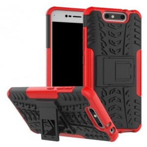 Protection Antichoc Type Otterbox Rouge Pour ZTE Blade V8