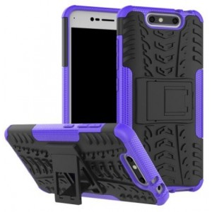 Protection Antichoc Type Otterbox Violet Pour ZTE Blade V8