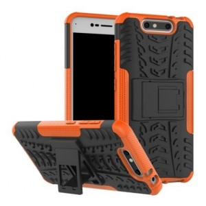 Protection Antichoc Type Otterbox Orange Pour ZTE Blade V8