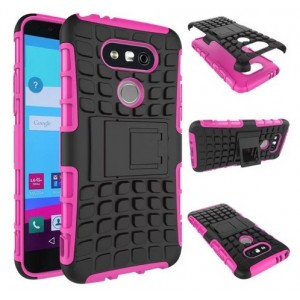Protection Antichoc Type Otterbox Rose Pour LG V20