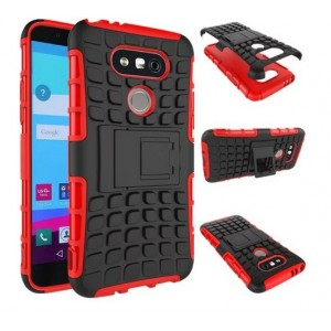 Protection Antichoc Type Otterbox Rouge Pour LG V20