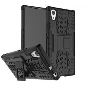 Protection Solide Type Otterbox Noir Pour Sony Xperia XA1 Ultra