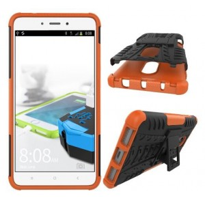 Protection Antichoc Type Otterbox Orange Pour Xiaomi Redmi Note 4