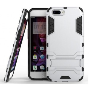 Protection Antichoc Type Otterbox Argent Pour Oppo R11