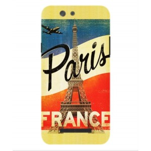 Coque De Protection Paris Vintage Pour Wileyfox Spark X