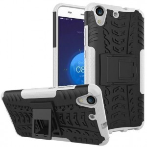 Protection Antichoc Type Otterbox Blanc Pour Huawei Y6II Compact