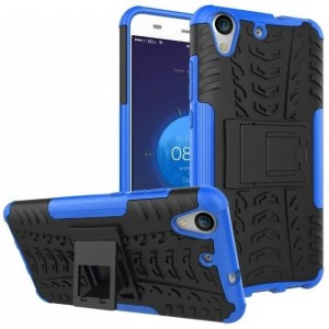 Protection Antichoc Type Otterbox Bleu Pour Huawei Y6II Compact