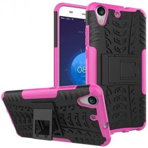 Protection Antichoc Type Otterbox Rose Pour Huawei Y6II Compact