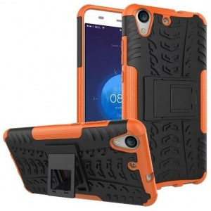 Protection Antichoc Type Otterbox Orange Pour Huawei Y6II Compact