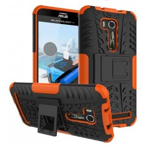 Protection Antichoc Type Otterbox Orange Pour Asus Zenfone Go ZB551KL