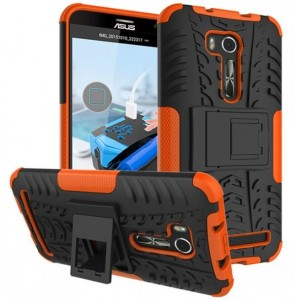 Protection Antichoc Type Otterbox Orange Pour Asus Zenfone Go ZB552KL