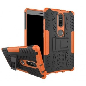 Protection Antichoc Type Otterbox Orange Pour Lenovo Phab 2 Plus