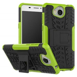 Protection Antichoc Type Otterbox Vert Pour Huawei Y6 2017