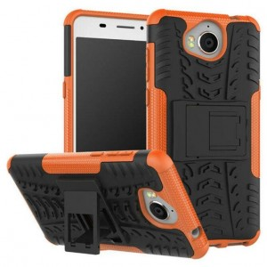 Protection Antichoc Type Otterbox Orange Pour Huawei Y6 2017
