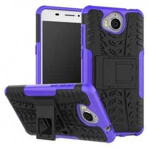 Protection Antichoc Type Otterbox Violet Pour Huawei Y6 2017