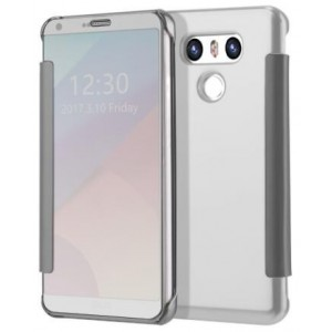 Protection Etui Flip Folio Dot View Blanc Pour LG G6