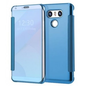 Protection Etui Flip Folio Dot View Bleu Pour LG G6