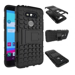 Protection Solide Type Otterbox Noir Pour LG G6