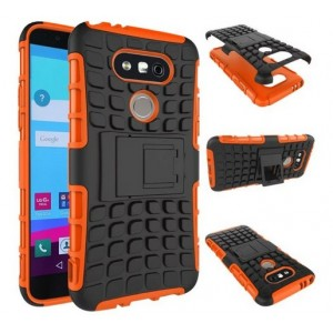 Protection Antichoc Type Otterbox Orange Pour LG G6