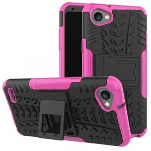 Protection Antichoc Type Otterbox Rose Pour LG Q6