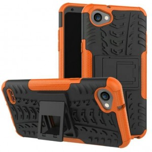 Protection Antichoc Type Otterbox Orange Pour LG Q6