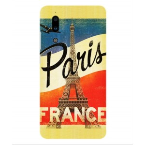 Coque De Protection Paris Vintage Pour Sharp Aquos S2
