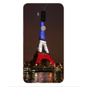 Coque De Protection Tour Eiffel Couleurs France Pour Alcatel A7 XL